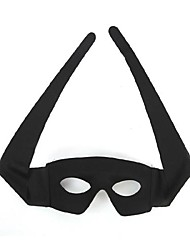 Mask Cosplay Festival/Holiday Halloween Costumes Black Solid Mask Halloween Unisex PVC