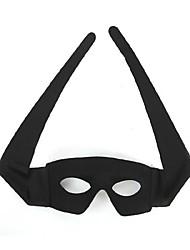 Masque Cosplay Fête / Célébration Déguisement d'Halloween Noir Couleur Pleine Masque Halloween Unisexe PVC