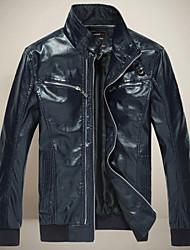 BQ Men's Fashion Long Sleeve Leather Jacket_97