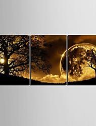 Холст Set Пейзаж3 панели Вертикальная Печать Искусство Декор стены For Украшение дома