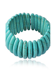Women's Fashion Luxury Chunky Funky Bib Statement Cluster Turquoise Bracelet