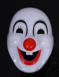 payaso de plástico feliz halloween máscara