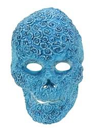 Syvio hochwertigem Latex blaue Blume Schädel Kopf halloween Slip-on Maske