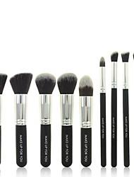 10pcs trucco professionale pennelli cosmetici set di strumenti di bellezza pro