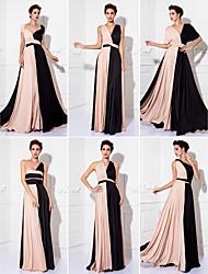 TS Couture Convertible Dress Floor-length Knit Sheath/Column Evening Dress