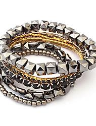 European Style Cube Beads Multilayer Wrap Bracelet