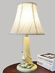 Desk Lamps 220V Resin Fabric European Retro Classic