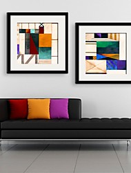 Abstract Pattern Framed Canvas Print Set of  2