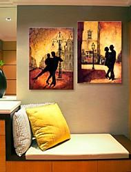 tela arte del tango di notte decorazione set di 2