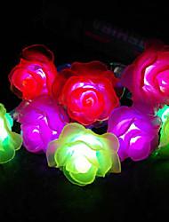 LED String Light 40 Lights Modern Rose Shape Chromatic Plastic 4.5m 220V