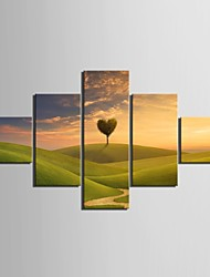 Stretched Canvas Art The Prairie  Sky And Tree Decoration Set of 5