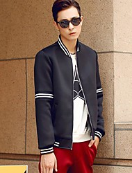 Men's Stand Collar Baseball Jacke Coat