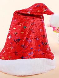 cortos sombreros de la Navidad de la felpa gruesa sombreros de santa unisex de adultos