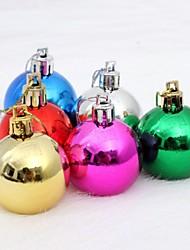 6 pcs decorações de natal penduradas bolas de queda multicolor colocação aleatória (φ = 8 centímetros)