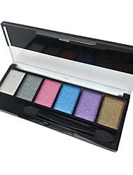 6 Palette de Fard à Paupières Fard à paupières palette Poudre Normal Maquillage Quotidien