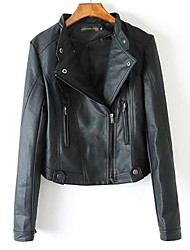 SANFENZISE™ Women's Lape Motorcycle Leather Jackets