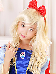 Lovely Snow White Light Golden 50cm Kids' Halloween Party Wig