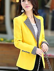 Women's Fashion Slim Blazer Candy Color One Button Thin Coat