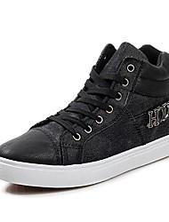 Zapatos de Hombre - Sneakers a la Moda - Casual - Cuero - Negro / Azul