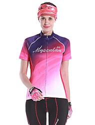 MYSENLAN® Maillot de Cyclisme Femme Manches courtes VéloRespirable / Séchage rapide / Résistant aux ultraviolets / Perméabilité à