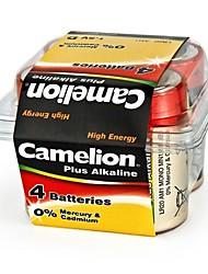 Camelion Plus alcaline d batterie de taille dans une boîte en plastique de 4 pièces