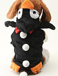 animal de chandail de mode deux couches chiffon doux sieste pingouin pull pour animaux chiens (de diverses tailles)