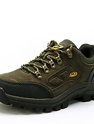 Men's Hiking Shoes Leather Brown/Green/Gray