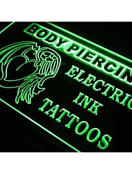s227 Body Piercing Electric Ink Tattoo NEW Light Sign