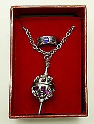 Puella Magi Madoka Magica Homura Akemi Cosplay Accessories(Ring & Necklace)