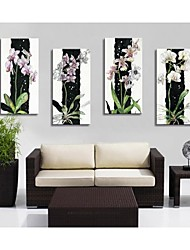 Personalized Canvas Print The Orchid 30x60cm  40x80cm  50x100cm  Framed Canvas Painting   Set of 4
