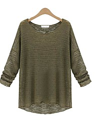 Women's Round Collar Fashion Casual Solid Color Sweaters(More Colors)