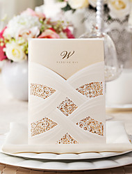 Exquisite Silk Design Wedding Invitation-Set OF 50/20(MORE Colors)