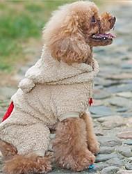 gris preciosa&ropa marrón de franela de conejo para perro (colores surtidos) (varios tamaños)