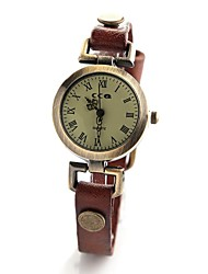 Women's Vintage Style Leather Band Quartz Analog Wrist Watch (Assorted Colors) Cool Watches Unique Watches