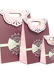 coway 3pcs versão roxa da cruz arco colagem simples saco da forma saco de papel do presente do partido set