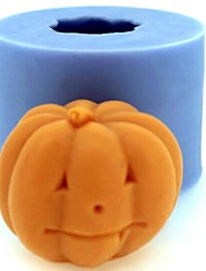 Halloween Pumpkin Fondant Cake Chocolate Candle Silicone Mold,L4.2cm*W4.2cm*H3.5cm