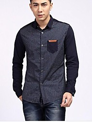 Men's Men's Clothing Han Edition Printed Wave Hitting Scene Point Leisure Shirt Top