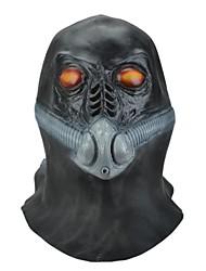 SYVIO High-grade Latex Red Eyes Evil Alien Wearing Oxygen Hose Mask Halloween Slip-on Mask