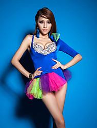 ds líder cantante de salón de baile de las mujeres clubwear dancewear mono
