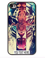 personalisierte Fall Tigermuster Metallkasten für iphone 4 / 4s