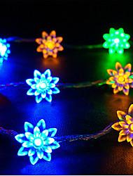 LED String Light 100 Lights Modern Lotus Shape Chromatic Plastic 10m 220V