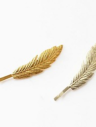 Fashion Alloy Leaf Hairpin(Assorted Colors)