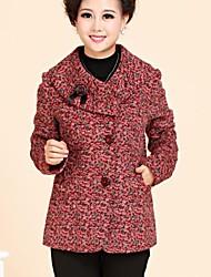 Skymoto®Women's In The Elderly Mother's Gift Soft Woolen Coat