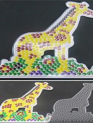 1pcs modèle perles Perler clairement panneau perforé motif de girafe pour perles hama 5mm perles fusibles