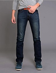 Men's 2014 New Fashion Low-rise Zipper Fly Combined Body Long Straight Jeans