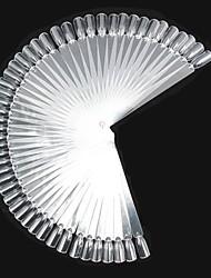 Faux ongles fichiers outils de Conseils 50pcs en plastique&met en œuvre pour les couleurs d'art d'ongle de mélange de la formation pratique de la