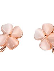 opale de mode de trèfle boucles d'oreilles des femmes marguerite