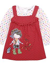 infantis vestidos globais bolinhas flores impressas bordado manga longa para o inverno antumn bebê meninas vestidos de impressão aleatória