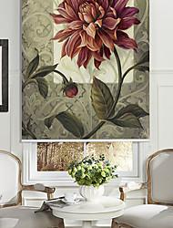 huile style de peinture fleur croissante rouleau ombre