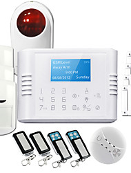 Multi-languages Version GSM Intrusion Alarm System Touch Keypad Wireless Panic Alarm System GS-G180E